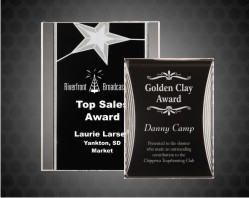Silver Star& Reflection Acrylic Plaque