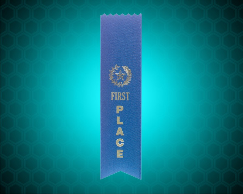 Blue 1st Place Pinked Ribbon