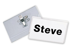 "Name Badge Holder with Clip and Pin 2.25"" x 3.5"""