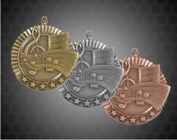 2 3/4 Inch Music Star Medal