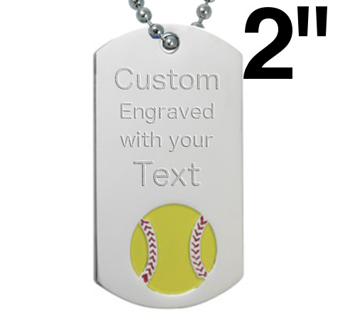 Softball Dog Tags