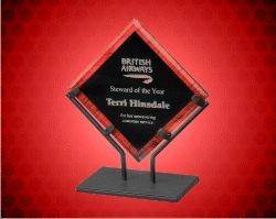 Red Galaxy Acrylic Plaques With Iron Stand