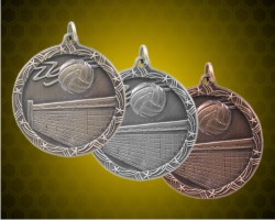 1 3/4 Inch Volleyball Shooting Star Medals