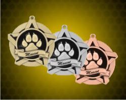 2 1/4 inch Mascot Super Star Medals