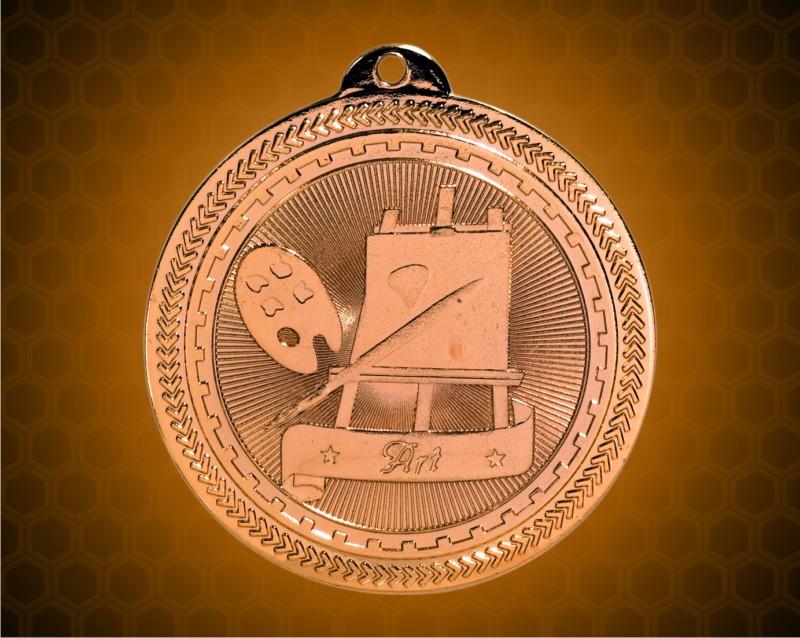 2 inch Bronze Art Laserable BriteLazer Medal