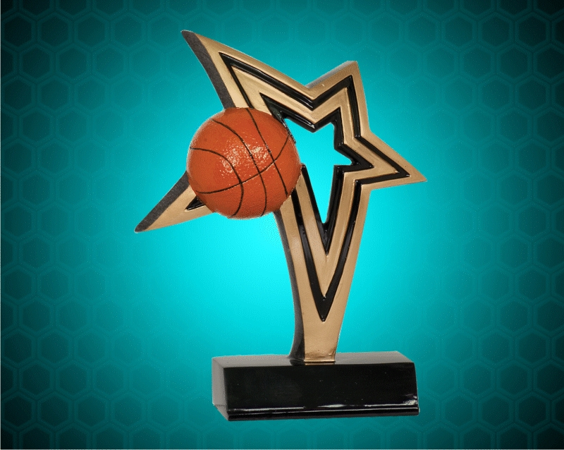 7 Inch Basketball Infinity Star Resin