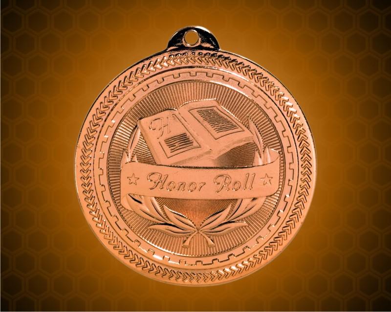 2 inch Bronze Honor Roll Laserable BriteLazer Medal