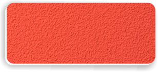 Blank Textured Plastic Name Tag: Tangerine and White - 822-258