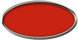 Blank Silver Oval Framed Nametag with Crimson