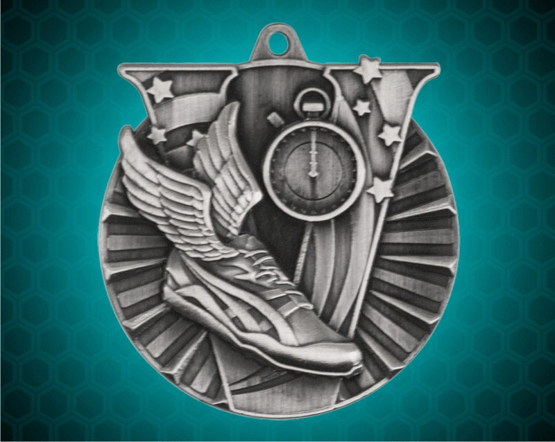 2 Inch Silver track Victory Medal