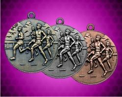 2 Inch Cross Country Die Cast Medal