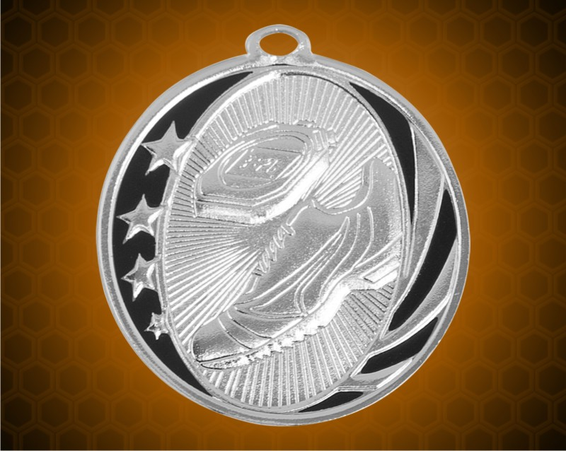2 inch Silver Track Laserable MidNite Star Medal