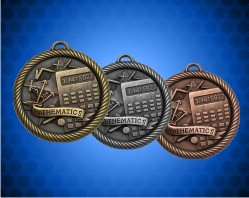 2 inch Mathematics Value Medal