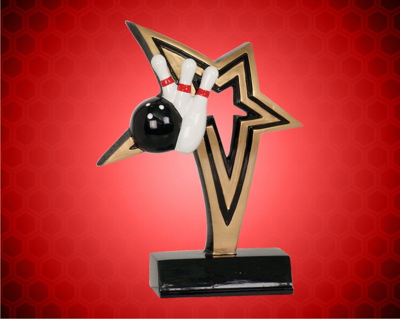 7 Inch Bowling Infinity Star Resin