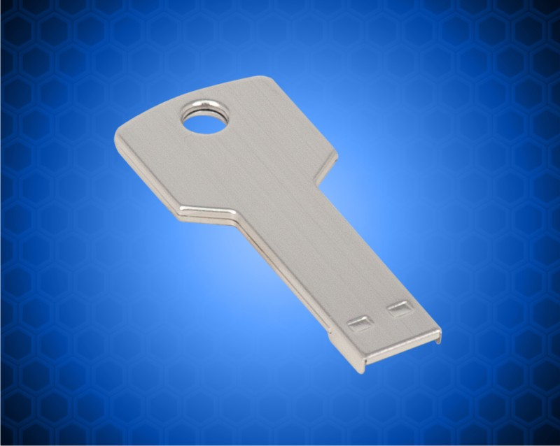 2 1/4 inch 4GB Silver KEY USB Flashdrive