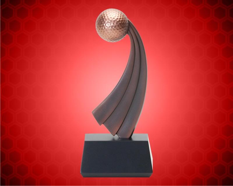 "8"" Golf Resins with Metallic Bronze Finish"