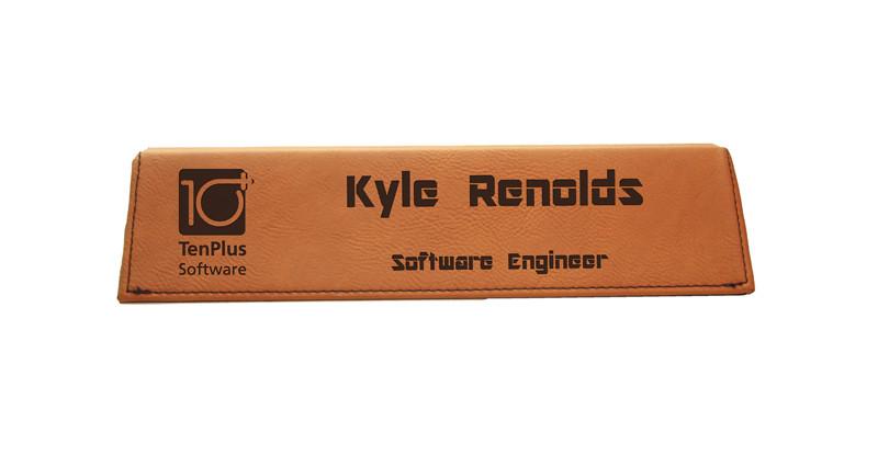 8 1/2 Inch Rawhide Laserable Leatherette Desk Wedge