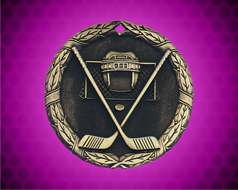 2 inch Gold Ice Hockey XR Medal