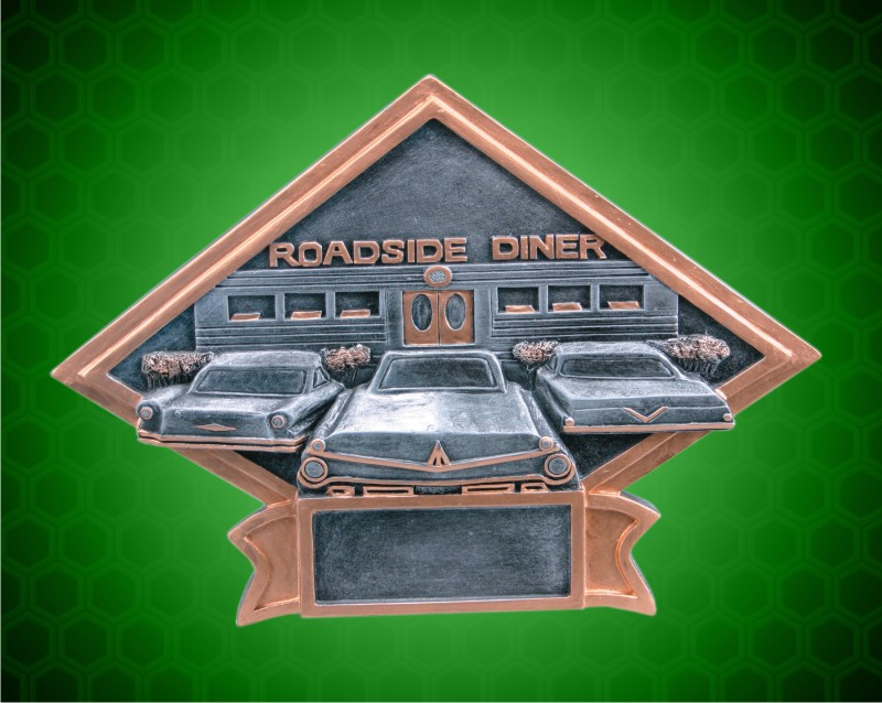 6 x 8 1/2 Inch Car Show/50s Theme Diamond Resin