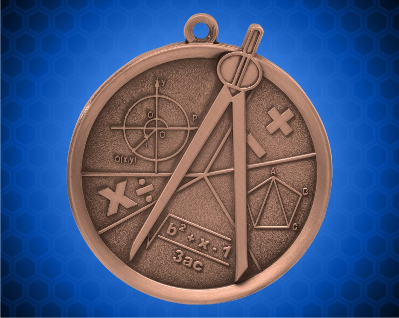 2 1/4 inch Bronze Math Mega Medal