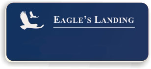 Blank Smooth Plastic Name Tag with Logo: Sky Blue and White - LM922-512