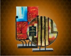 Art Glass with Metal Base