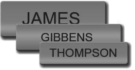Satin Silver Uniform Name Tag