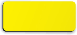 Blank Smooth Plastic Name Tag: Canary and Black - LM922-704