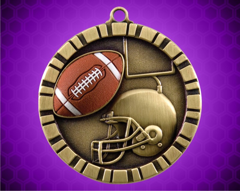 2 inch Football 3-D Medal