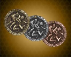 2 inch Wrestling XR Medal