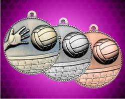 2 Inch Volleyball Die Cast Medal