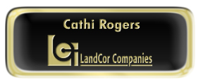 Metal Name Tag: Black and Gold with Epoxy and Shiny Gold Metal Border