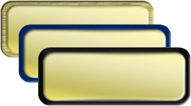 Shiny Gold Name Tag with Border