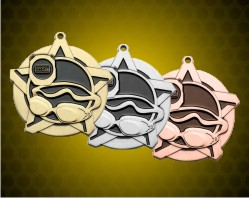 2 1/4 inch Swimming Super Star Medals