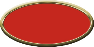 Blank Oval Plastic Gold Nametag with Crimson