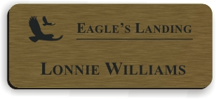 Smooth Plastic Name Tag: Deep Bronze with Black - LM922-884