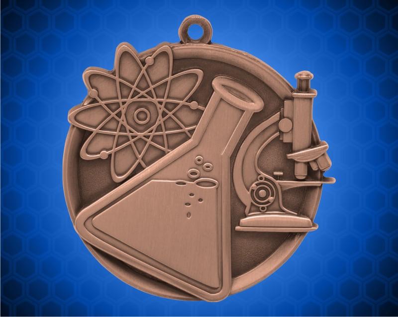 2 1/4 inch Bronze Science Mega Medal