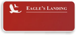 Blank Smooth Plastic Name Tag with Logo: Crimson and White - LM922-602