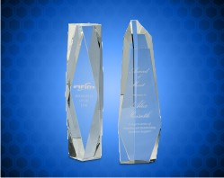 Clear Crystal Facet Tower