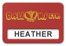 Reusable Smooth Plastic Windowed Name Tag: Crimson with Yellow - LM922-607