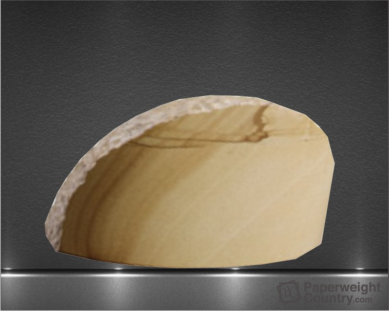 2 1/4 x 4 1/4 x 2 1/2 Inch Teak Marble Chisel-Etched Paperweight