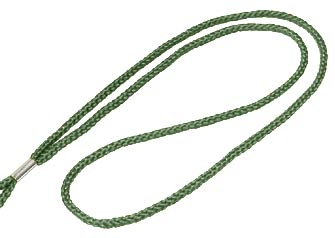 Forest Green Round Woven Lanyard