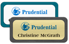 Metal Name Tags with Plastic Borders