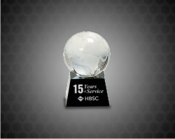 Crystal Globe on Black Base