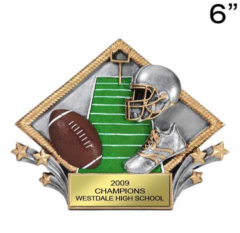 Football Shooting Star Plate Award