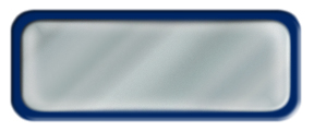 Blank Shiny Silver Nametag with a Blue Metal Border