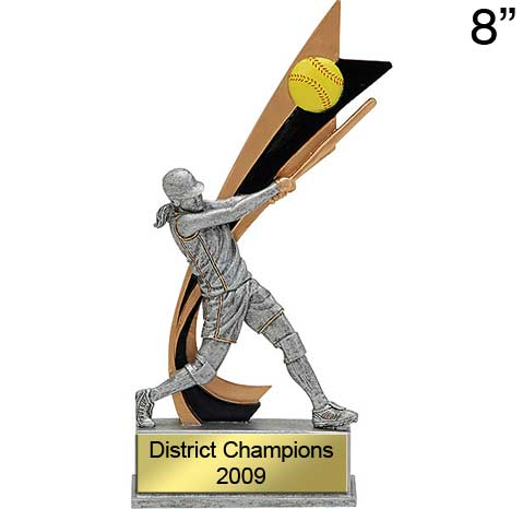 Softball Action Trophy