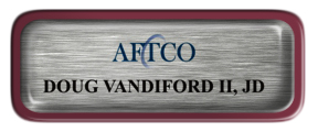 Metal Name Tag: Brushed Silver with Epoxy and Burgundy Metal Border