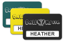 Plastic Reusable Windowed Name Tags