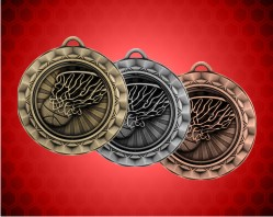 2 5/16 Inch Basketball Spinner Medal
